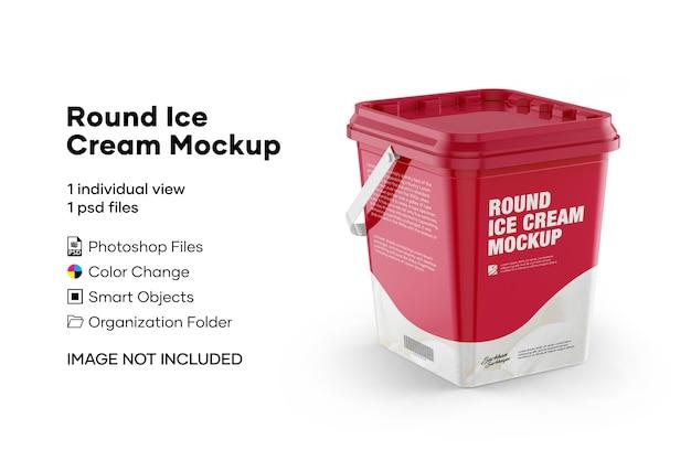 Maquete de sorvete redondo