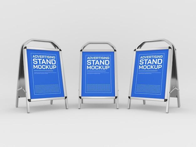 Maquete de stands de publicidade