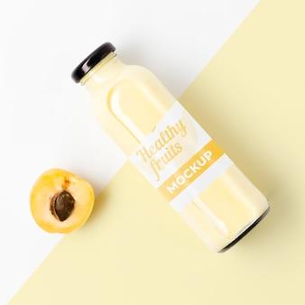 Maquete de suco de fruta orgânica