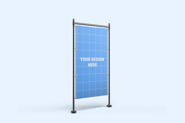 Maquete de suporte de banner vertical