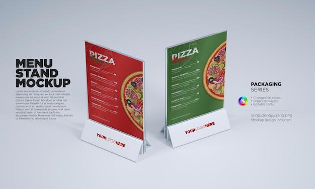 Maquete de suporte de menu em renderização 3d