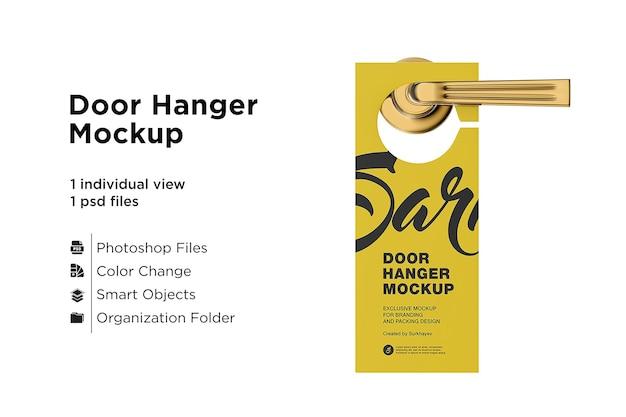 Maquete de suporte de porta isolada