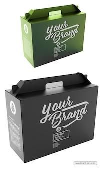 Maquete de suporte para garrafas de embalagem de papel