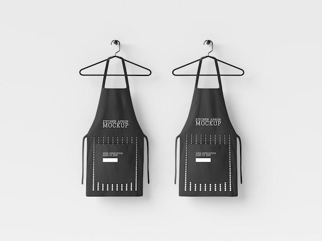 Maquete de suspensão de avental de cozinha