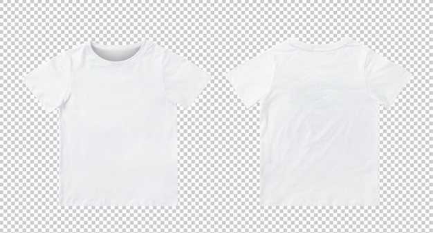 Maquete de t-shirt branca crianças em branco