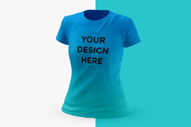 Maquete de t-shirt de mulher