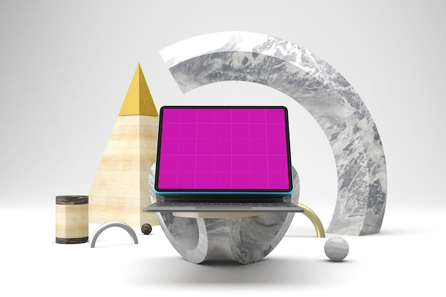 Maquete de tablet abstrata
