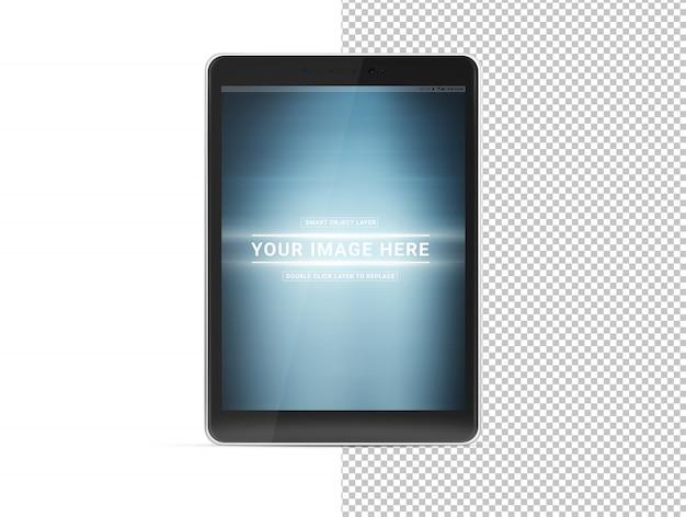 Maquete de tablet azul cortado isolado
