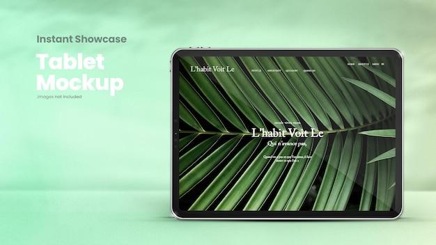 Maquete de tablet clássico para exibir designs ui e ux