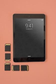 Maquete de tablet com conceito de fotografia