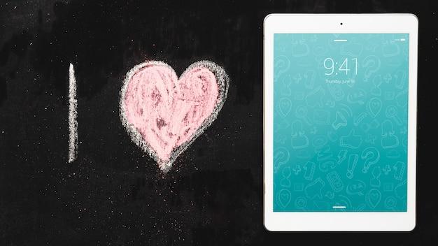 Maquete de tablet com o conceito de internet