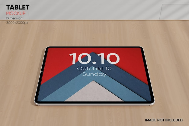 Maquete de tablet com vista lateral