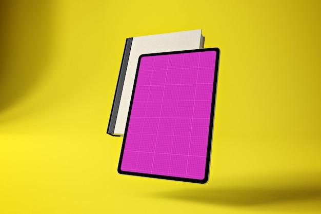 Maquete de tablet de livro
