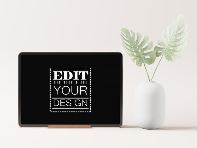 Maquete de tablet de tela em branco