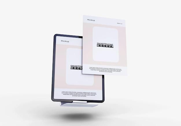 Maquete de tablet de tela simples e moderna