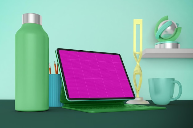 Maquete de tablet desktop