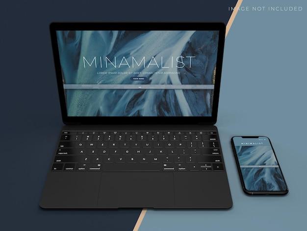 Maquete de tablet e smartphone para identidade de marca