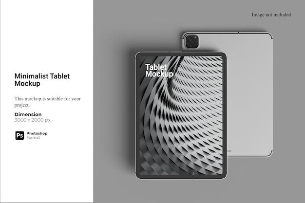 Maquete de tablet minimalista