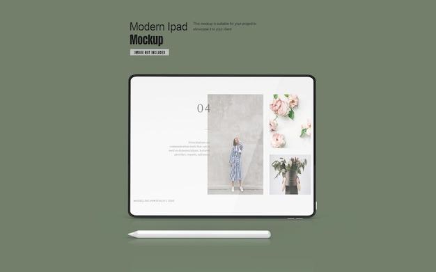Maquete de tablet moderno