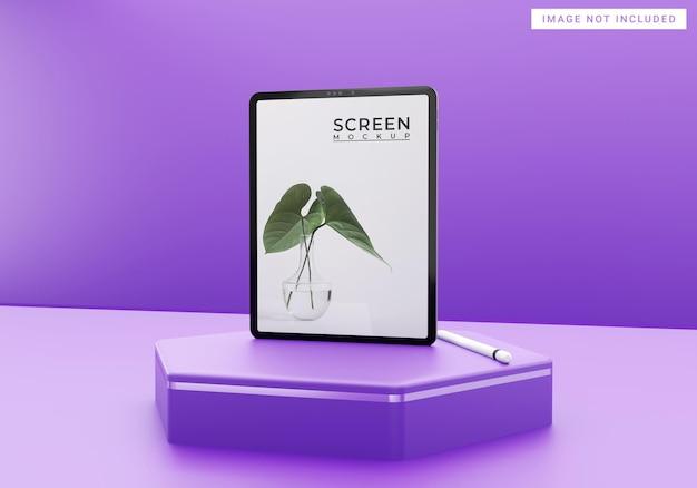 Maquete de tablet simples roxo