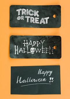 Maquete de tag do dia das bruxas