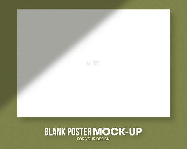 Maquete de tamanho de cartaz em branco a4