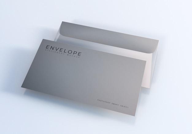 Maquete de tamanho de envelope monarca de escritório Psd Premium