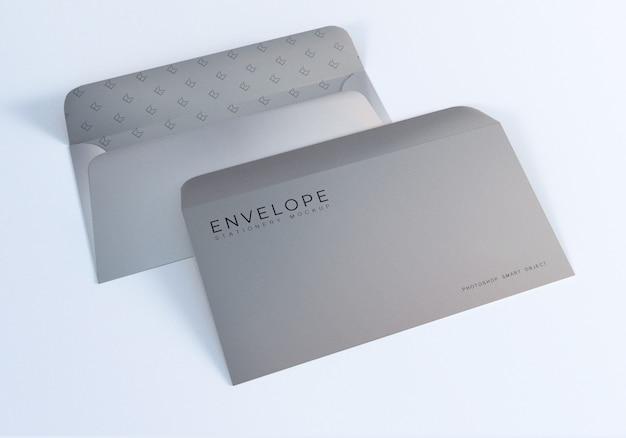 Maquete de tamanho de envelope monarca Psd Premium