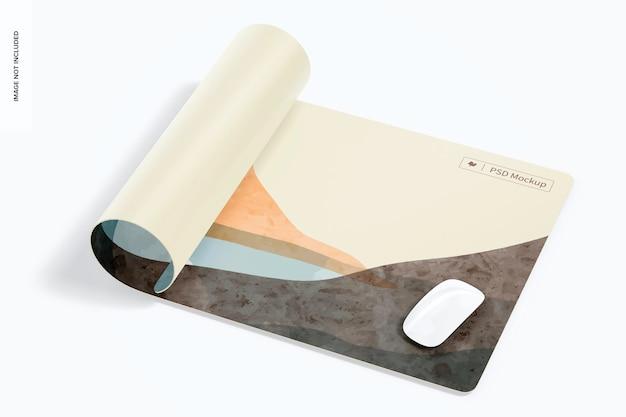 Maquete de tapete de mesa à prova d'água, enrolado