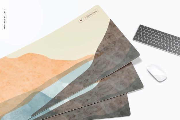 Maquete de tapetes de mesa à prova d'água