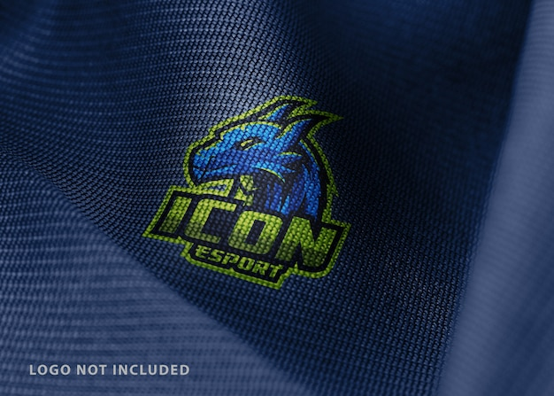 Maquete de tecido com logotipo esport
