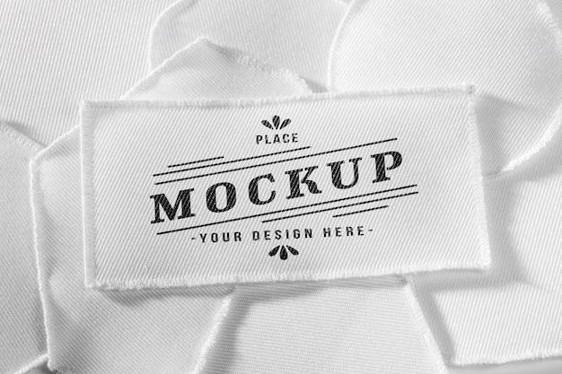 Maquete de tecido em remendo de roupa branca Psd Premium