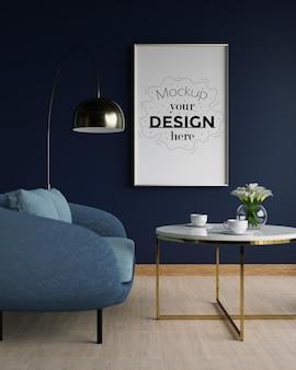 Maquete de tela, arte na parede da sala de estar