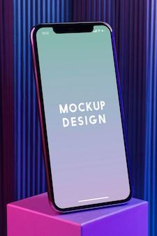 Maquete de tela de celular premium