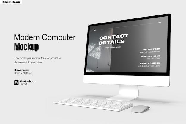Maquete de tela de computador moderna v3
