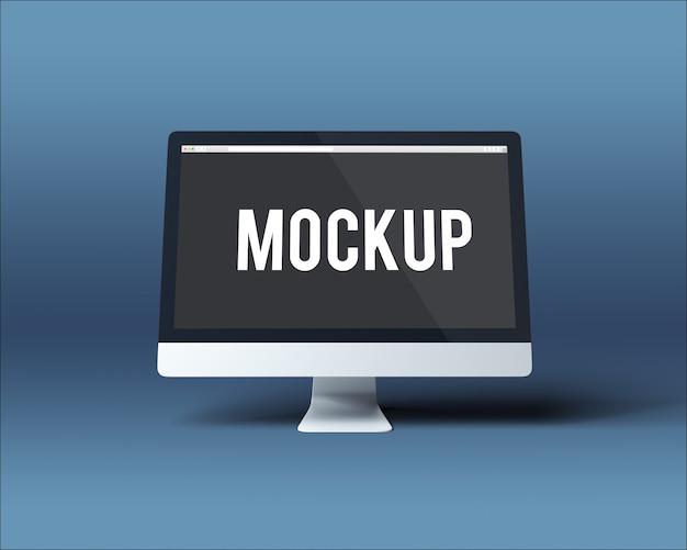 Maquete de tela de computador