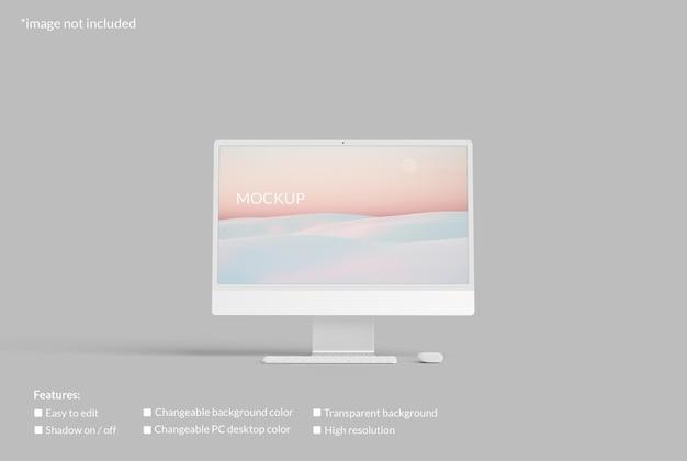 Maquete de tela de desktop minimalista para pc