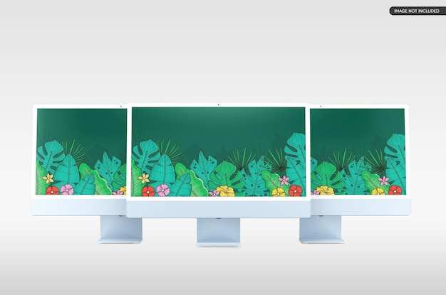 Maquete de tela de desktop