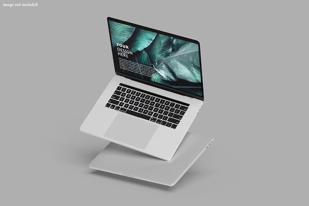 Maquete de tela de dispositivo digital de laptop