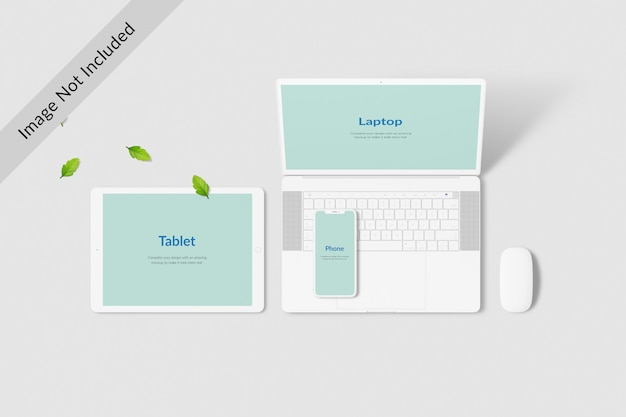 Maquete de tela de dispositivos digitais