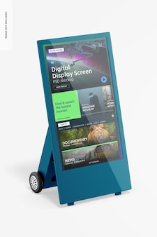 Maquete de tela de exibição digital