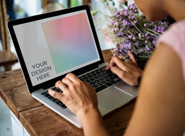 Maquete de tela de laptop
