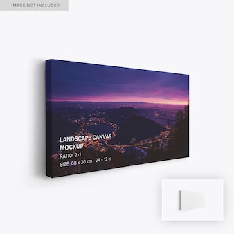 Maquete de tela de paisagem suspensa 2x1