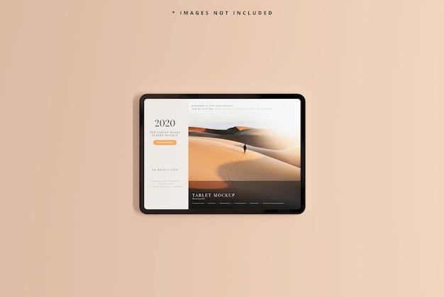 Maquete de tela de tablet moderno