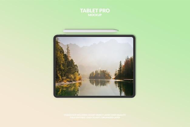 Maquete de tela de tablet pro digital editável