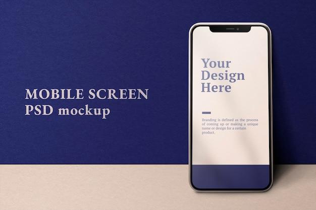 Maquete de tela de telefone celular dispositivo digital psd