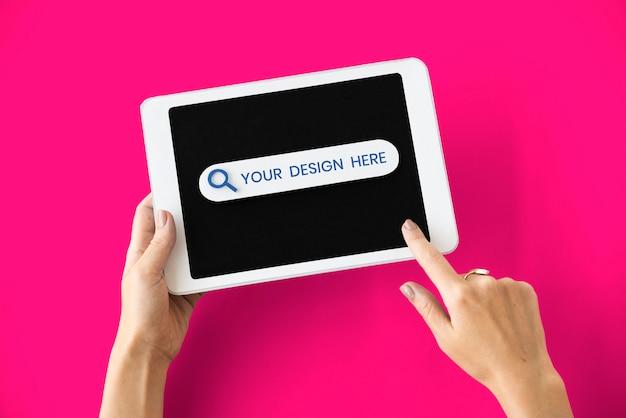 Maquete de tela digital tablet