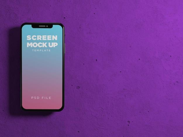 Maquete de tela do celular