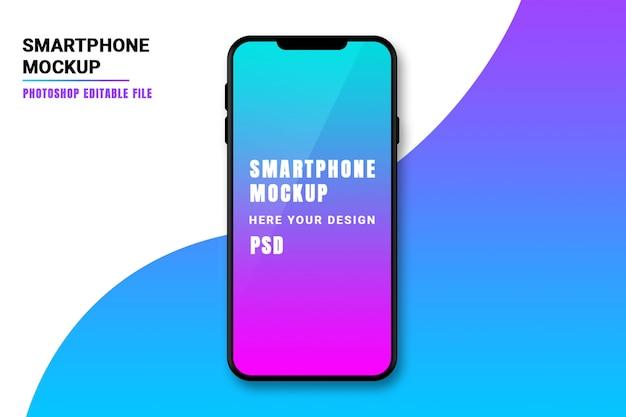Maquete de tela do smartphone