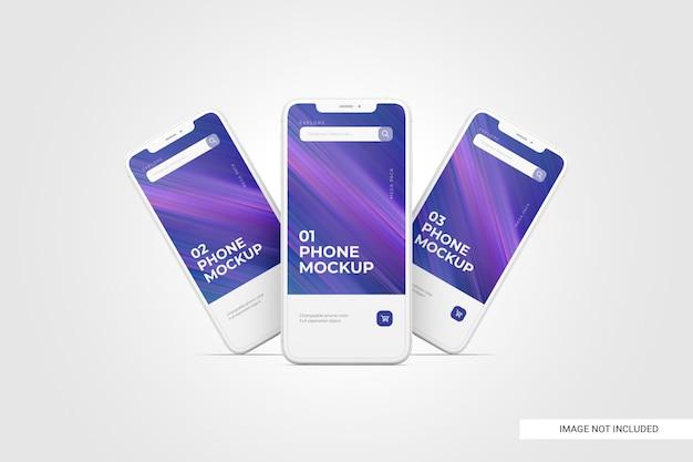 Maquete de tela do telefone móvel